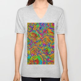 Abstract FF YYYY Unisex V-Neck