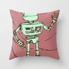 Robot Jones Throw Pillow