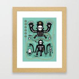 Chamanistik in blue Framed Art Print