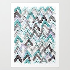 ZigZag Blue Art Print