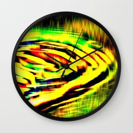 Electric Water - Kaleidoscope Wall Clock