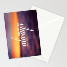 Seek the Lord, Always.  Stationery Cards