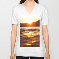 lake V-neck T-shirts featuring Lake by Meg Hartley Photography
