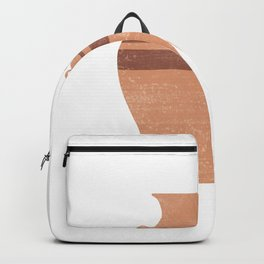Greek Pottery 22 - Hydria - Terracotta Series - Modern, Contemporary, Minimal Abstract - Light Brown Backpack
