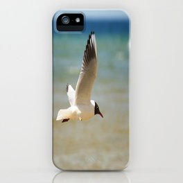 Seagull over the sea iPhone Case