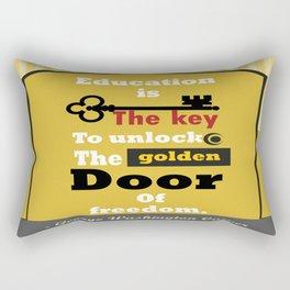 Education The golden door of freedom George Washington Quote Rectangular Pillow