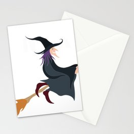 Yes i can drive a Stick Witch Halloween Costume Stationery Cards