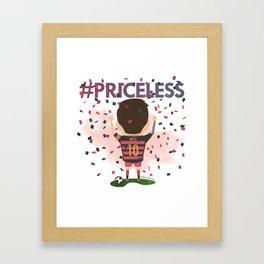 Messi Priceless Framed Art Print