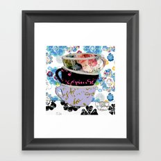There's a pattern on my cup Framed Art Print