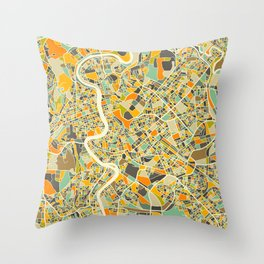 ROME MAP Throw Pillow