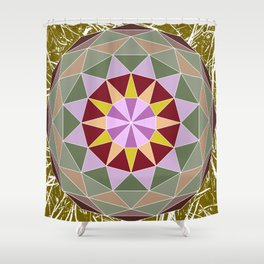Spiny Star Shower Curtain