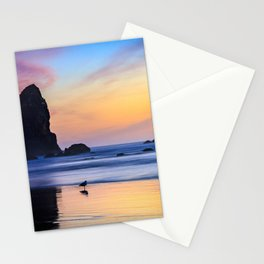 The Needles at Haystack Rock Stationery Cards