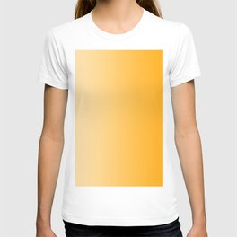 Pastel Orange to Orange Vertical Linear Gradient T-shirt