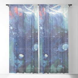 Bright Ocean Life, Tiny World Collection Sheer Curtain