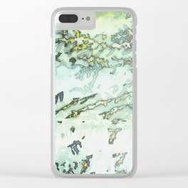 Grey & a bit of Yellow Foliage Clear iPhone Case