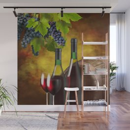 Evening Wine Tasting Art Wall Mural