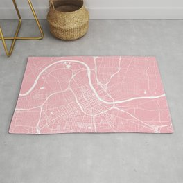 Pink City Map of Nashville, Tennessee Rug