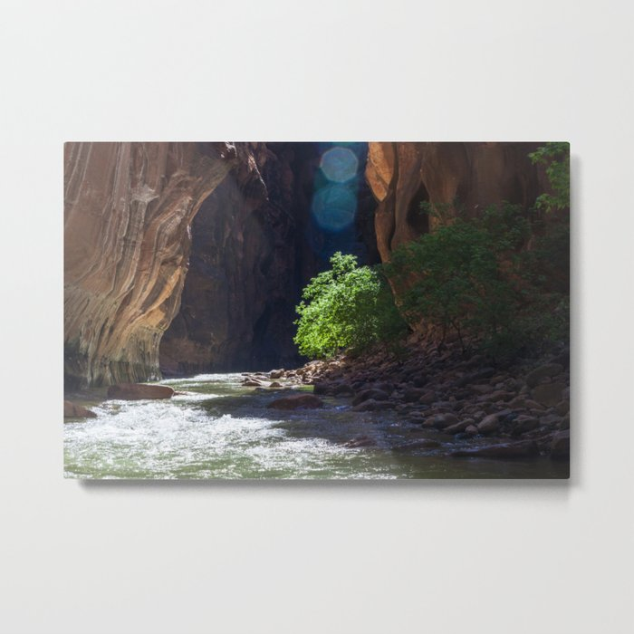 Meeting It's End (The Narrows, Zion National Park, Utah) Metal Print