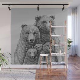 Family photo (mr. Bear) Wall Mural