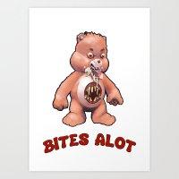 Ursa Disturba: Bites Alot Art Print