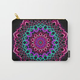 Project 208 | Colorful Mandala on Black Carry-All Pouch