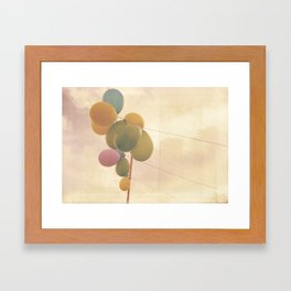 The Vintage Balloons Framed Art Print