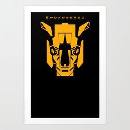 Endangered: Rhino Art Print