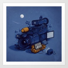 Movie Break Art Print