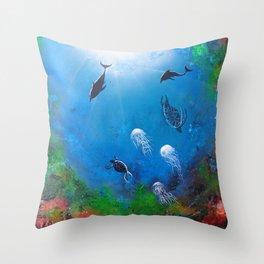Seaworld Throw Pillow