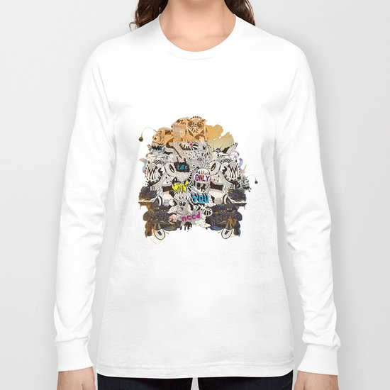 Drawing Collage #03 Long Sleeve T-shirt