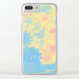 Surreal butterflies and landscape on mandala Clear iPhone Case
