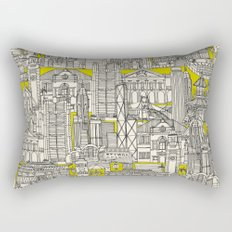 Hong Kong toile de jouy chartreuse Rectangular Pillow