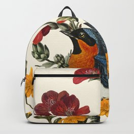 Little Bird and Flowers Backpack
