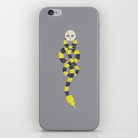 The Scarf Mark - Yellow and Grey iPhone & iPod Skin