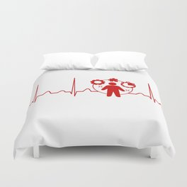 Project Manager Heartbeat Duvet Cover