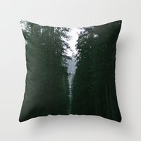yosemite Throw Pillows featuring Yosemite  by Andre Elliott