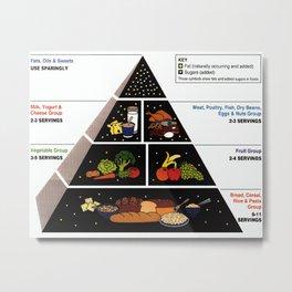 Food Pyramid  Metal Print