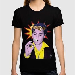 Johnny Depp Art Pop Flower Crown T-shirt