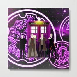 Tardis The Doctor Shine Gallifrey Purple Metal Print