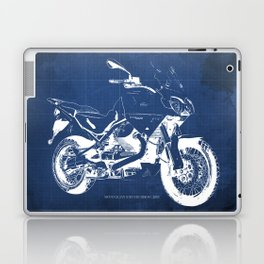 2010 Moto Guzzi Stelvio 1200 4V blueprint Laptop & iPad Skin