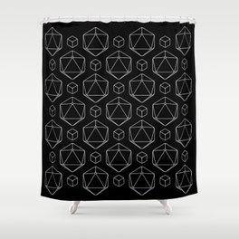 Die Die Die Black Shower Curtain