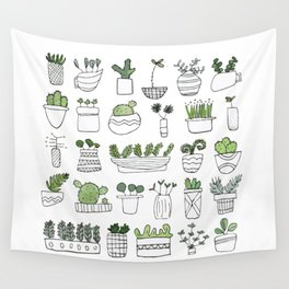 Spiky Succulents Wall Tapestry