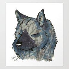 Brush Breeds-Norwegian Elkhound Art Print