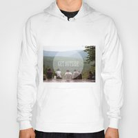 hiking Hoodies featuring Hiking Gang by Jessica Krzywicki