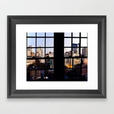 View from the Top, Boston Framed Art Print