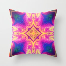 Psychedelic Three Throw Pillow
