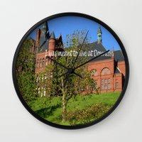 downton abbey Wall Clocks featuring Downton Desire by Nonna Originals