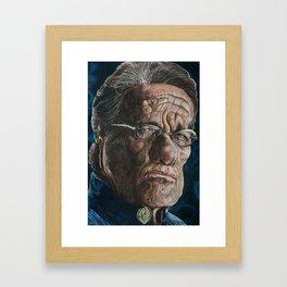 Edward Olmos Warp Framed Art Print