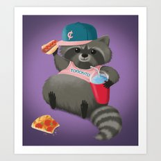 Rad Raccoon Art Print