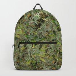 cannabis bud, marijuana macro Backpack